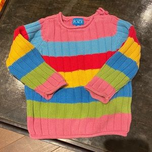 CHILDRENS PLACE rainbow pullover